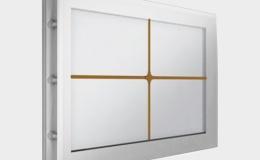 10 Окно акриловое 452х302 белое с раскладкой крест для панелей со структурой филенка