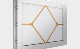 12 Окно акриловое 452х302 белое с раскладкой ромб для панелей со структурой филенка