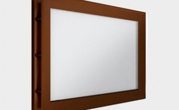 9 Окно акриловое 452х302 коричневое для панелей со структурой филенка