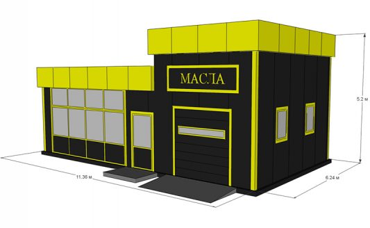 ЦЕНА ОТ 10000 тысяч рублей за кв. метр (по полу) В цену входит :  Металлокаркас , сэндвич-панели, комплект секционных ворот 1 шт, ,окно ПВХ 1 шт, монтаж